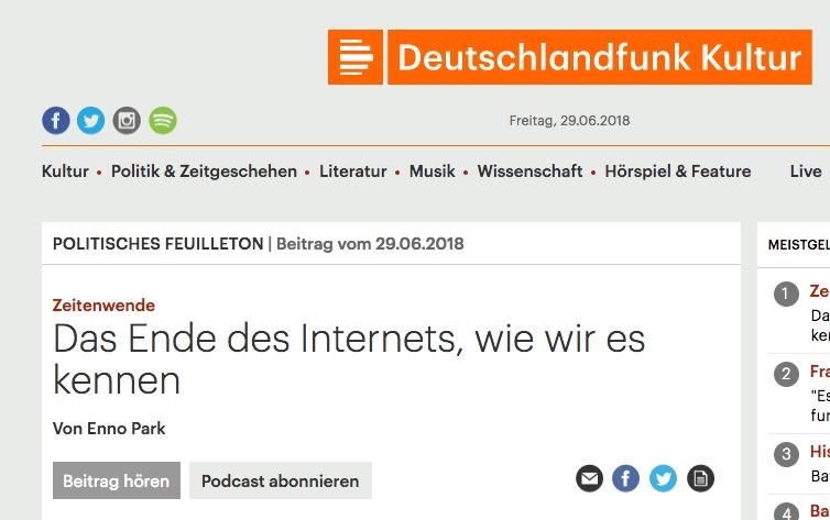 Das Ende des Internets? Eine Reaktion